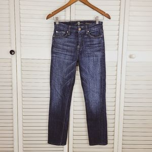 7 For All Mankind Kimmie Crop Hi-Rise Jeans